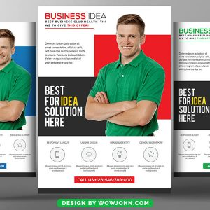 Free Elegant Business Conference Flyer Psd Template