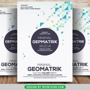 Free Club Nights Geometric Flyer Psd Template
