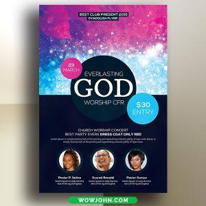 Free Everlasting God Church Flyer Psd Template