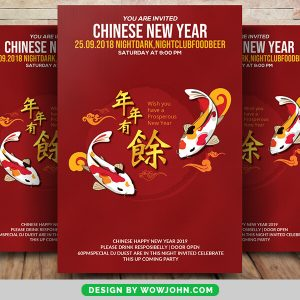 Free Chinese New Year 2022 Flyer Psd Template
