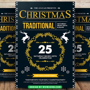 Free 2022 Merry Christmas Celebration Flyer Psd