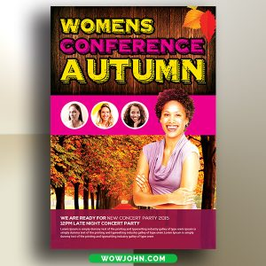 Free Women's Conference Flyer Psd Template