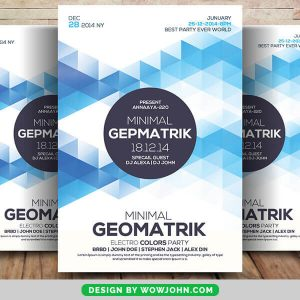 Free Minimal Abstract Geometric Flyer Psd Template