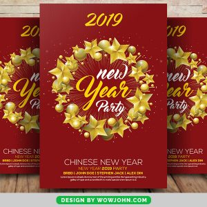 Free 2022 Chinese New Year Party Flyer Psd Template