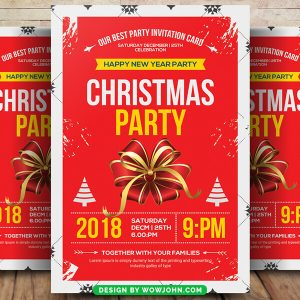 Free Christmas Eve Service Flyer Psd Template