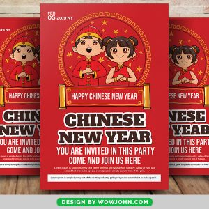 Free 2022 Chinese New Year Quote Flyer Psd Template