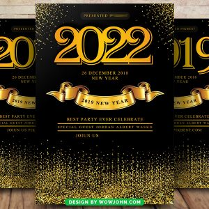 Free New Year 2022 PSD Flyer Template