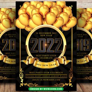 Free 2022 New Year Eve Psd Flyer Template