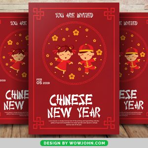 Free Chinese New Year Giveaway Flyer Psd Template