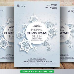 Free Minimal Christmas Flyer Psd Template