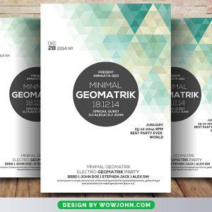 Free Minimal Geometric Flyer Psd Template