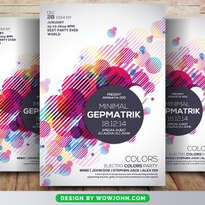 Free Electro House Party Flyer Psd Template