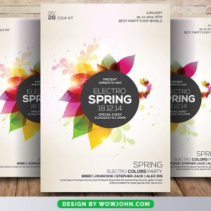 Free Minimal Spring Flyer Psd Template