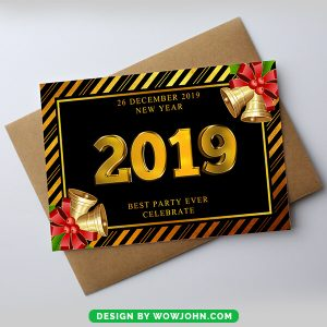 Free 2022 New Year Card Invitation Psd Template