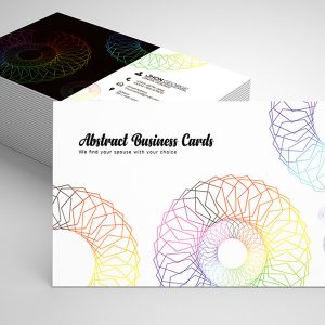 Free Colorful Abstract Business Card Psd Template