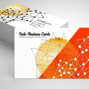 Free Technology Business Card Psd Template