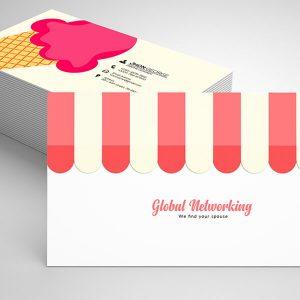 Free Ice Cream Shop Business Card Psd Template