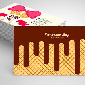 Chocolate Ice Cream Shop Business Card Free Psd Template