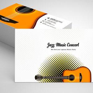 Free DJ Music Business Card Psd Template