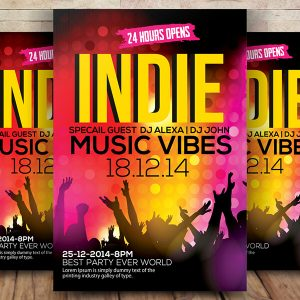 Free Indie Music Flyer Psd Template