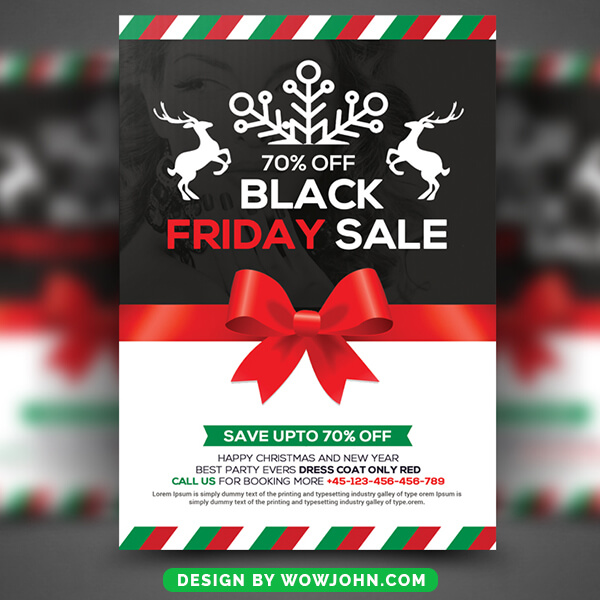 Free Christmas Black Friday Psd Flyer Template