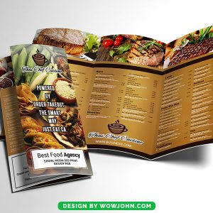 Free Indian Restaurant Take-out Tri-Fold Brochure Psd Template