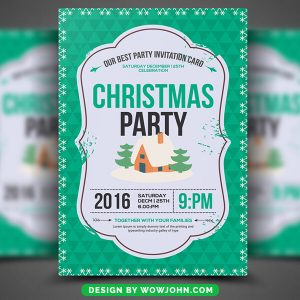 Merry Christmas Night Free PSD Flyer Template