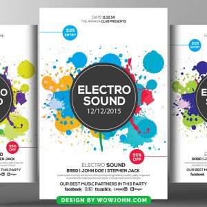 Free Electro Sound Psd Flyer Template