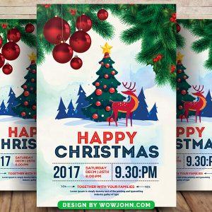 Free Christmas Tree Psd Flyer Template