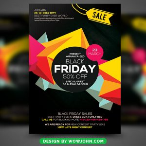 Black Friday Psd Flyer Template Free Download