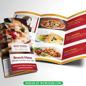 Free Restaurant Menu Brochure Psd Template