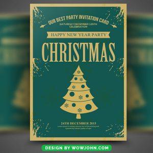Christmas Church Free PSD Flyer Template