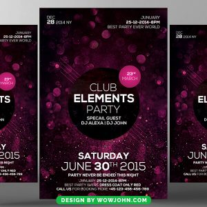 Free Club Night Party Psd Flyer Template