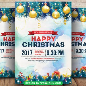 Happy Christmas 2022 Psd Flyer Template