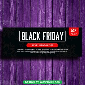 Free Black Friday Facebook Timeline Cover Psd Template