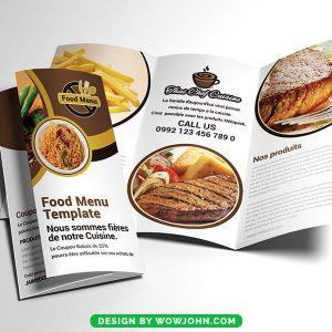 Free Cafe Tri-Fold Brochure Psd Template