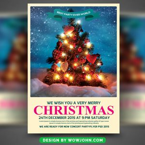 Ugly Sweater Christmas Free PSD Flyer Template