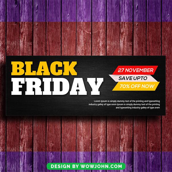 Black Friday Sale Facebook Timeline Cover Psd Template
