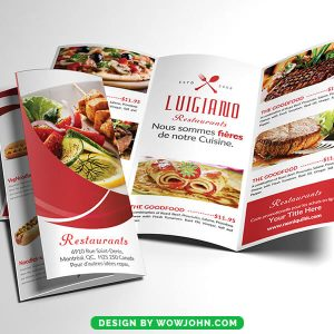 Free Pizza Restaurant Trifold Brochure Psd Template