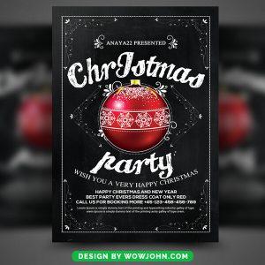 Free XMAS Night PSD Flyer Template