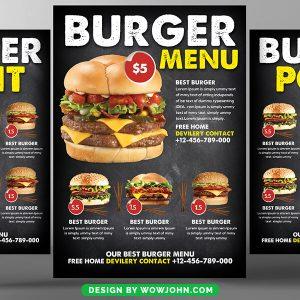 Free Restaurant Brochure and Menu Psd Template