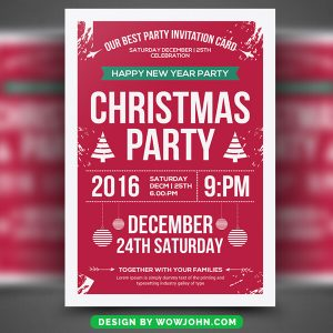 Free Christmas Event PSD Flyer Template