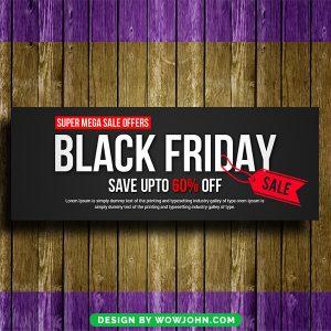 Black Friday Facebook Timeline Cover Free Psd