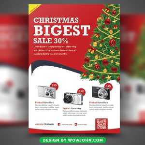 Christmas Products Free PSD Flyer Template