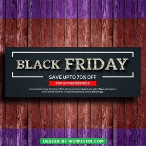 Black Friday Facebook Timeline Cover Template