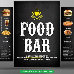 Free Food Menu Restaurant Brochure Flyer Psd Template