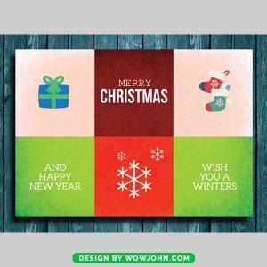 Free Christmas Greeting Card Vector Photoshop
