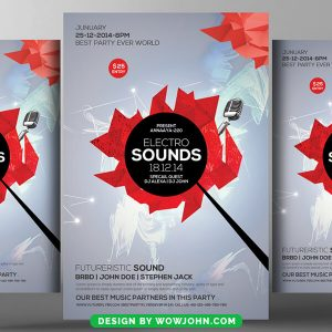 Free Abstract Music Party Psd Flyer Template