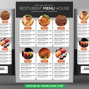 Free Japanese Restaurant Brochure Flyer Psd Template