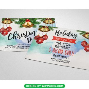 Christmas Party Invitation Card Psd Template